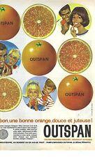 PUBLICITE ADVERTISING 1963   OUTSPAN orange fruits