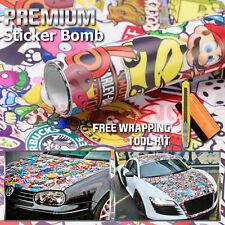 "*12""x60"" #ST Anime Cartoon Stickerbomb Car Vinyl Sticker Wrap Decal Sheet"