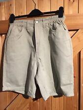 "Light Khaki Green Shorts Size 12 By BHS Classic Shorts Waist 30""-32"" Leg 7"""