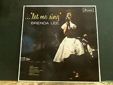 BRENDA LEE  Let Me Sing  LP  Mono UK original     Lovely copy !