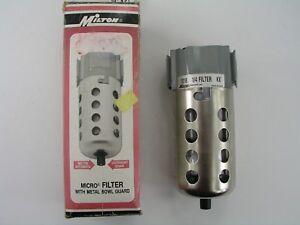 "Air Line Filter, Milton 1018, 1/4"" NPT"