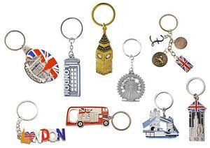 Famous British London Icons  Mix of 7 Key Rings -UK Souvenir