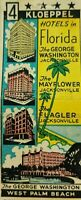 Vintage matchbook cover the George Washington West Palm Beach Hotel Florida c