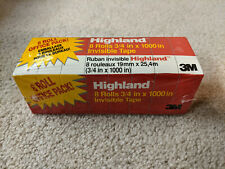 3M Highland 8 Rolls 3/4 in x 1000in Invisible Tape Pack (New)