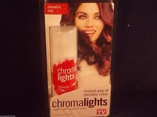 CHROMA LIGHTS Temporary Hair Color Spray INSTANT POP of METALLIC COLOR RED