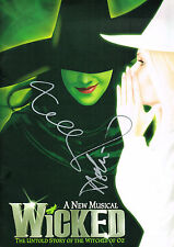 Idina Menzel (Twice) Helen Dallimore SIGNED Wicked London West End Program COA