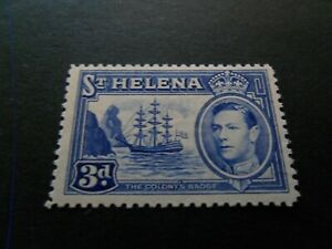 St Helena 1938  KGVl  Lmm  3d High  CV  Stamp as per pictures