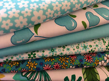 Fat Quarters Fabric Bundle x 6 CARIBBEAN SEAS Fabric Craft Quilt Bunting Sewing