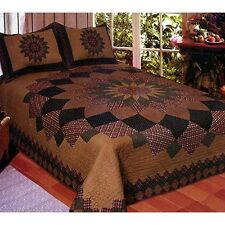 American Hometex Q009/6-Q , Alexandra Dahlia Queen Quilt Set-90inx90in NEW