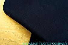C165 MOLTO SCURO BLU INDGO DENIM SUPER SOTTILE DELUXE COTONE STRETCH 384ml