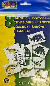 Colour Workshop Schablonen mit verschiedenen Motiven (8 Stück pro Pack.) Blopens