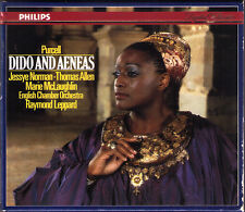 Purcell: Dido and Aeneas Jessye Norman thomas Allen Marie McLaughlin Leppard CD