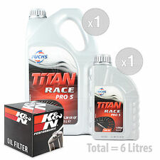 Engine Oil and Filter Service Kit 6 LITRES Fuchs Titan Race Pro S 5W-30 6L