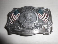 NRA 125 YEAR ANNIVERSARY USA FLAG VINTAGE BELT BUCKLE JEANS WESTERN ROCK ROLL