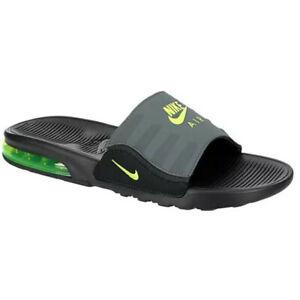 Nike AIR MAX CAMDEN Mens Anthracite Grey Green BQ4626-001 Slip On Slides Sandals