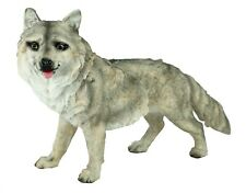 weiß Simulation Wolf Spielzeug Figur Wohnkultur Braun