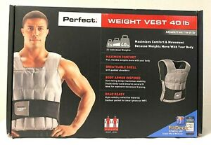 Perfect Fitness 40 lb 40 Pound Adjustable Weight Vest