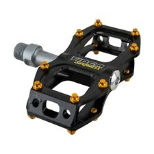 TIOGA SUREFOOT SLIM FLAT 9/16TH PEDALS FOR BICYCLE IN BLACK W/ SCREW IN PINS
