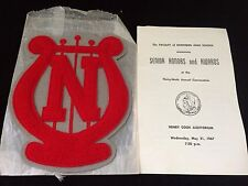 1967 FLINT NORTHERN HIGH SCHOOL SENIOR HONORS + PATCH BAND FLINT MI.