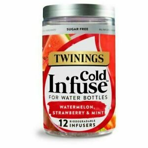 TWININGS Cold Infuse- Watermelon, Strawberry & Mint - 12 Infusers
