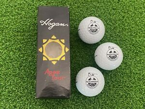 NEW (3) Ben Hogan Apex Tour Golf Balls Bank of America HOGAN'S ALLEY LOGO SLEEVE