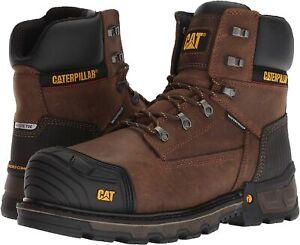 "Caterpillar Men's Excavatorxl 6"" Wp Ct Construction Boot, Dark Brown, Size 10.5"