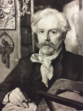 Edmond de Goncourt (1822-1896) par Felix Bracquemond Héliogravure de 1882 France