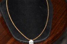 18K Yellow Gold Rope Necklace 6.5g S70