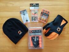 Ice Fishing, Size Large Neoprene gloves and Celsius hat, Safety Ice Kit, etc.