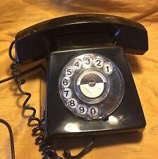 Rare 1970s British/English PLESSEY Black Rotary Phone from TV/Film Prop House