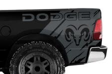 Custom Vinyl Decal Wrap Kit for Ram 1500/2500/3500 2009-2014 DODGE RAM HEAD Gray