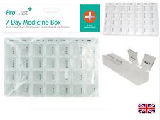 Weekly Pill Box Daily Organiser Medicine Tablet Storage Dispenser 7 Day Week UK