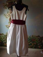 US Angels White Dress Flower Girl Wedding Communion Sleeveless Dress Size 10