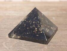 SMALL (25-30mm) BLACK TOURMALINE ORGONE GEMSTONE PYRAMID ORGONITE