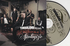 CD CARTONNE CARDSLEEVE ONE REPUBLIC FEAT TIMBALAND APOLOGIZE 2T TBE