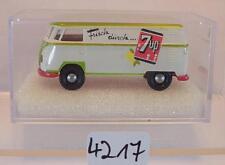 Brekina 1/87 VOLKSWAGEN BULLI VW t1b riquadro 7up limonata OVP #4217