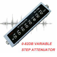0-82DB VARIABLE STEP ATTENUATOR 50 OHM 0.25W for Ham Radio Transmitter Black