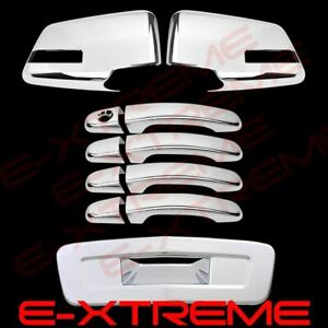 For 2009-2011 Chevrolet Traverse Mirror Door Handle Tailgate Chrome Cover Combo