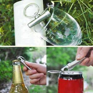 Mini Wine Corkscrew Beer Bottle Opener Keychain Cork Screw KJ