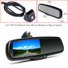 "4.3"" Dimming TFT LCD Rear View Mirror Monitor w/Rear Camera  Night Vision DC 12V"