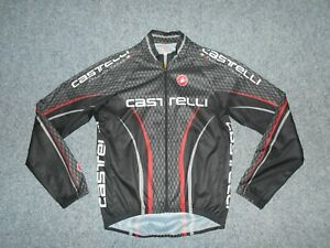 CASTELLI SERVIZIO CORSE MENS LARGE FULL ZIP MADE IN USA CYCLING JACKET        B1
