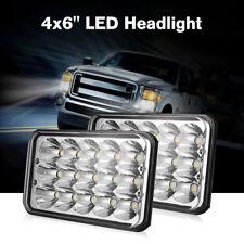 New Pair 4x6'' LED Headlight Hi/Low Sealed Beam Spotlight Driving Fog Light Work