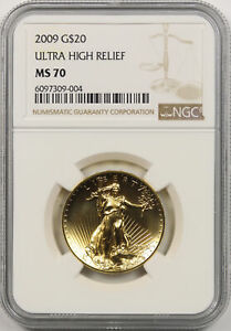 2009 Ultra High Relief UHR Double Eagle Gold $20 MS 70 NGC