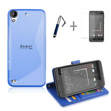 BLUE Wallet 4in1 Accessory Bundle Kit Case Cover For HTC Desire 530 630