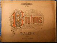 Edition Peters 3665 Brahms Walzer Opus 39 Klavier zu vier Händen H8361