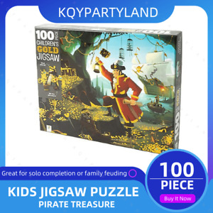 100PCS Kids Jigsaw Puzzle PIRATE TREASURE Adults Activity Learning Toy Games