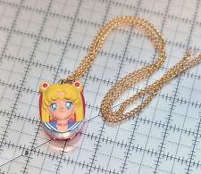 Sailor Moon pendant necklace watch clock 1992 vintage