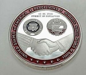 Donald Trump Kim Jong Un Silver Coin President Supreme Leader Joe Biden American