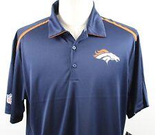 NWT Nike NFL Denver Broncos Dri-Fit Polo Shirt Herren Large blau orange Polyester