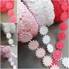 1m  Large-Pink Satin Lace Ribbon-width 3cm Trimmings,Wedding Daisy Flower